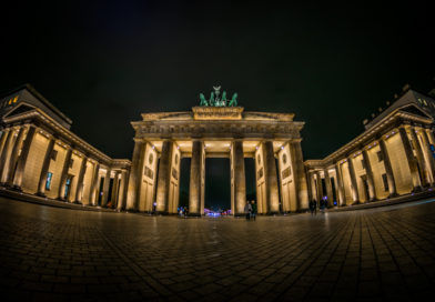 Бранденбургские ворота в Берлине.